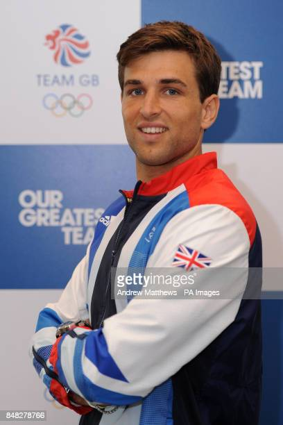 Great Britain's George Pinner during the London 2012 kitting out session at Loughborough University Loughborough