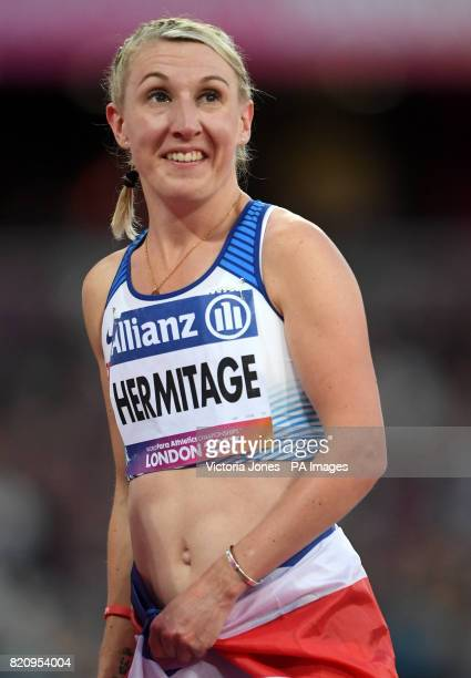 Great Britain's Georgina Hermitage wins the Women's 100m T37 final during day nine of the 2017 World Para Athletics Championships at London Stadium