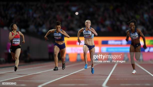 Great Britain's Georgina Hermitage with the Women's 100m T37 final during day nine of the 2017 World Para Athletics Championships at London Stadium