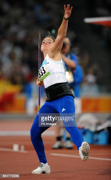 Great Britain's Goldie Sayers in action in the Women's Javelin Final at the National Stadium in Beijing during the 2008 Beijing Olympic Games in China