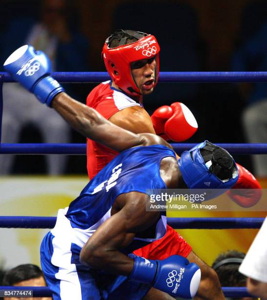 Great Britain's James Degale in action against Cubas' Emilio Correa Bayeaux in the men's middleweight boxing final during the 2008 Beijing Olympic...