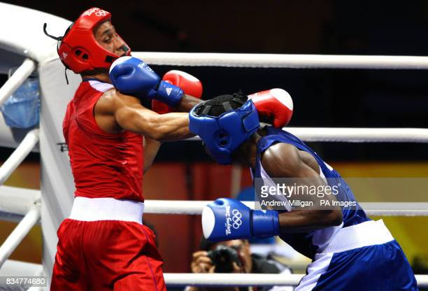 Great Britain's James Degale in action with Cubas' Emilio Correa Bayeaux in the men's middleweight boxing final during the 2008 Beijing Olympic Games...
