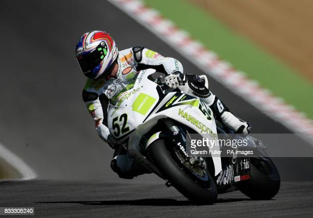 Great Britain's James Toseland on his way to victory in the fisrt race of the SBK World Superbike Championship at Brands Hatch Circuit Kent