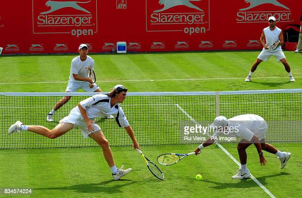 Great Britain's Jamie Murray and South Africa's Jeff Coetzee during the doubles match against USA's Eric Butorac and Bobby Reynolds during the...