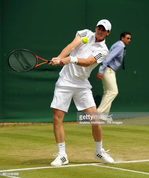 Great Britain's Jamie Murray in action during his double's match with partner Australia's John Peers against Austria's Jurgen Melzer and USA's James...