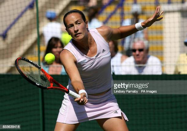 Great Britain's Jane O'Donoghue in action against Finland's Emma Laine during Hasting's Direct International at Devonshire Park Eastbourne