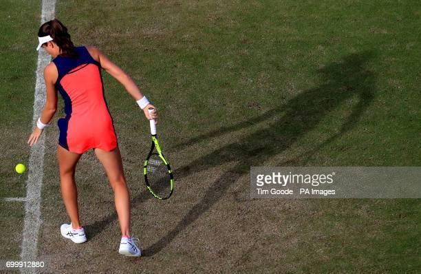 Great Britain's Johanna Konta against USA's CoCo Vandeweghe during day four of the 2017 AEGON Classic at Edgbaston Priory Birmingham