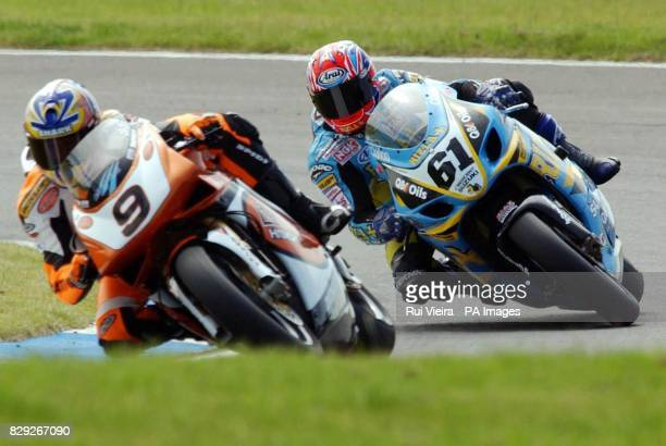Great Britain's John Reynolds and Chris Walker during the qualifying session for the World Superbike Championships at Silverstone