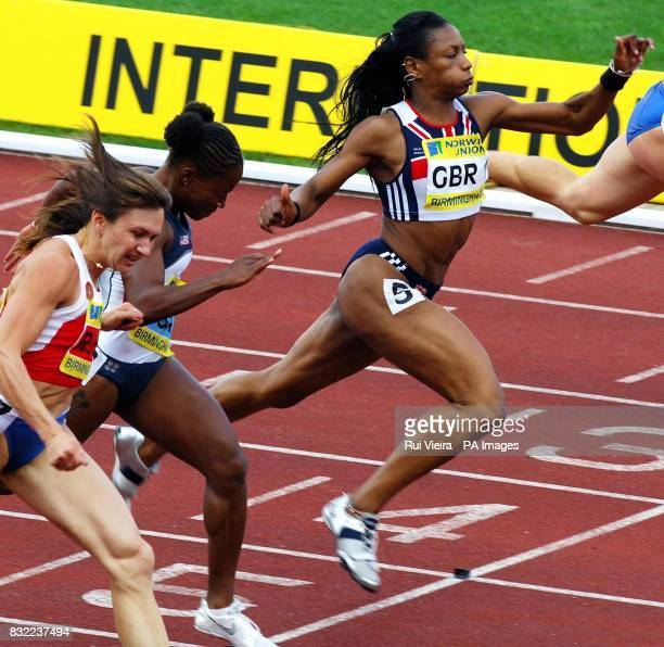 Great Britain's Joice Maduaka finishes third in the women's 100m during the Norwich Union International at the Alexander Stadium Birmingham