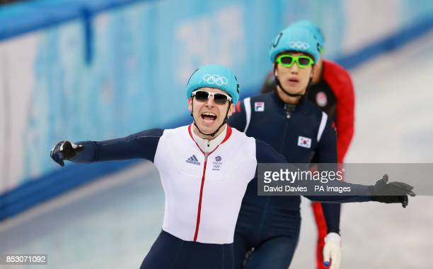 Great Britain's Jon Eley after his Men's 500m Semi Final Short Track at the Iceberg Skating Palace during the 2014 Sochi Olympic Games in Sochi Russia