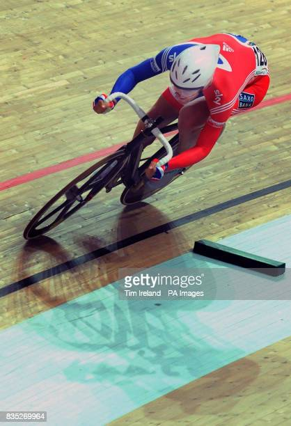 Great Britain's Jonny Bellis in the Omnium 200m Time Trial during the 2009 UCI World Track Cycling Championships at the BGZ Arena Velodrome in...