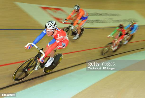 Great Britain's Jonny Bellis in the Omnium Scratch Race during the 2009 UCI World Track Cycling Championships at the BGZ Arena Velodrome in Pruszkow...