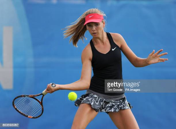 Great Britain's Katie Boulter in action against Paraguay's Veronica Cepede Royg during the AEGON Nottingham Challenge at The Nottingham Tennis Centre...