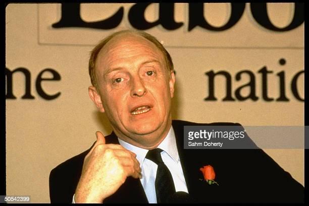 Great Britain's Labor Party Leader Neil Kinnock