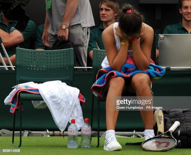 Great Britain's Laura Robson in her match against Slovakia's Daniela Hantuchova during the 2009 Wimbledon Championships at the All England Lawn...