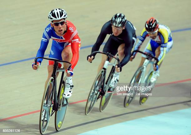 Great Britain's Mark Cavendish during the Scratch Race where he finished out of the medals during the 2009 UCI World Track Cycling Championships at...