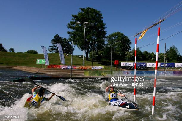 Great Britain's Mark Proctor and Daniel Goddard during the men's C1 Semi Final
