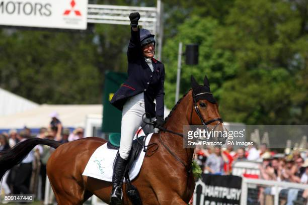 Great Britain's Mary King riding Imperial Cavalier comes third in the Mitsubishi Motors The Badminton Horse trials during day five of the Badminton...