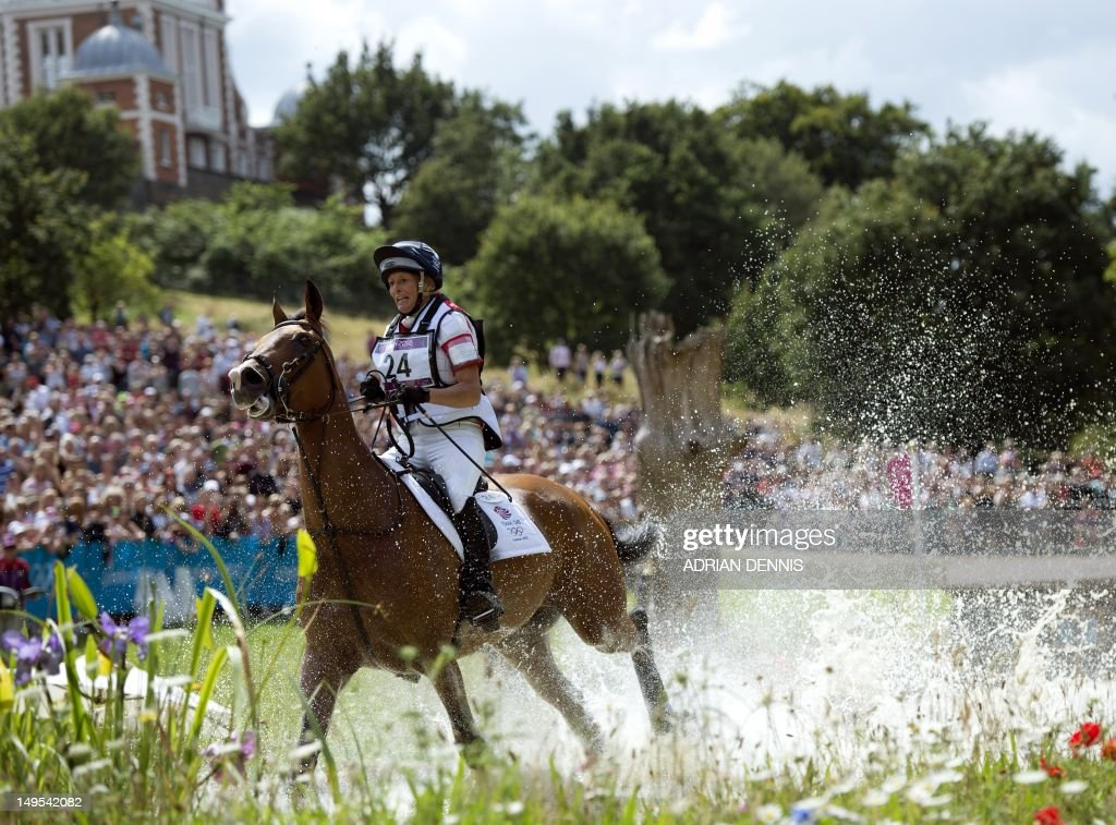 Great Britain's Mary King riding Imperial Cavalier competes in the cross country phase of the eventing competition of the 2012 London Olympic Games at the Equestrian venue in Greenwich Park, London on July 30, 2012.