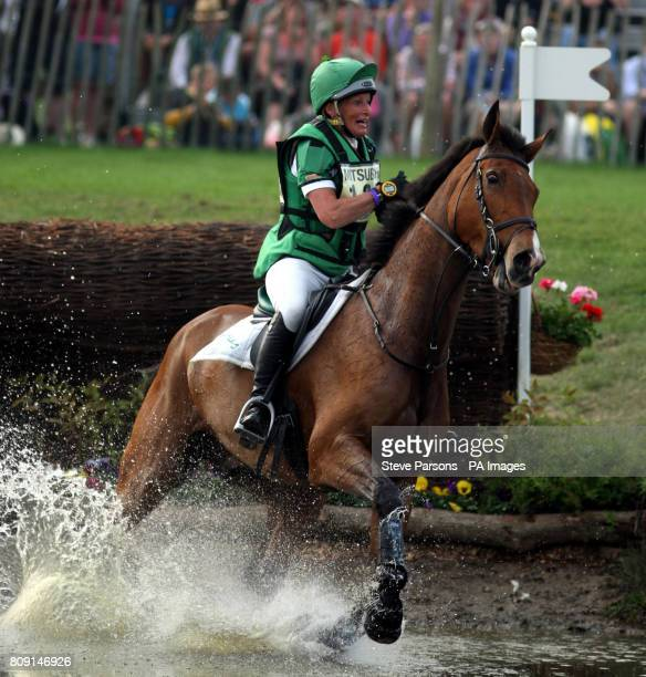 Great Britain's Mary King riding Imperial Cavalier competes in the Cross Country stage during day four of the Badminton Horse Trials in Badminton...