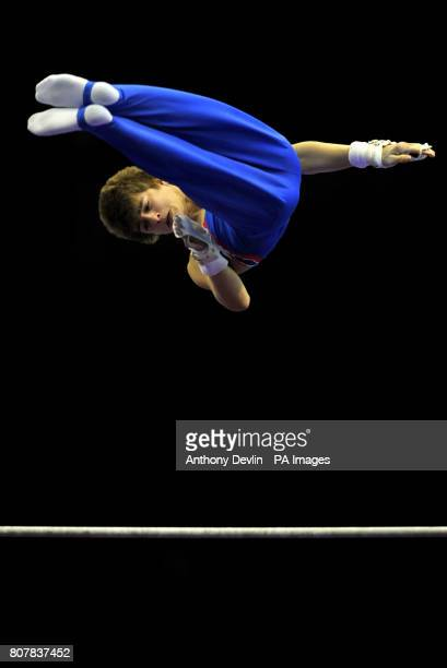 Great Britain's Max Whitlock competes on the high bar Junior Qualification during the European Artistic Championships at the NIA Birmingham
