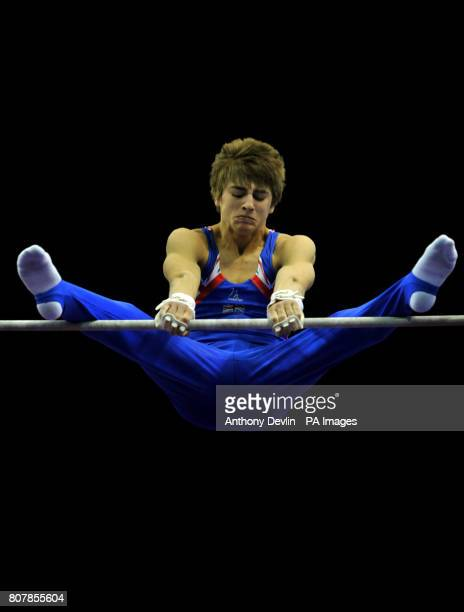 Great Britain's Max Whitlock on the high bar Junior Qualification during the European Artistic Championships at the NIA Birmingham
