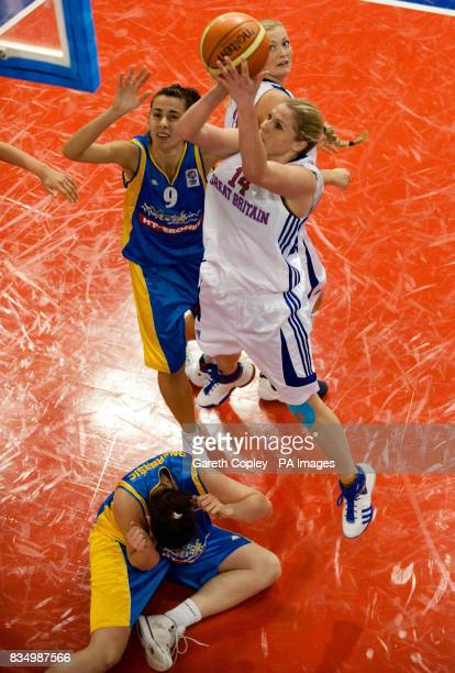 Great Britain's Meagan Hoffman during the EuroBasket Divison A match at the English Institute of Sport Sheffield