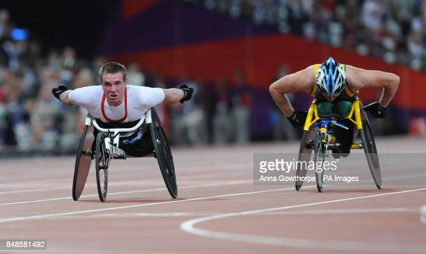 Great Britain's Mickey Bushell in action during the Men's 200m T53 Final at the Olympic Stadium during the Paralympic Games in London