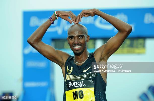 Great Britain's Mo Farah after the 2013 Great North Run between Newcastle and South Shields