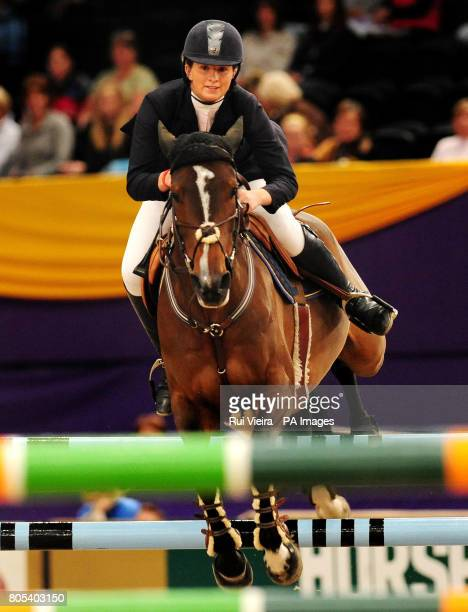 Great Britain's Nicole Pavitt on Gemmaire Precious II during The Dick Turpin Stakes during the Horse of the Year Show 2009 at the NEC in Birmingham