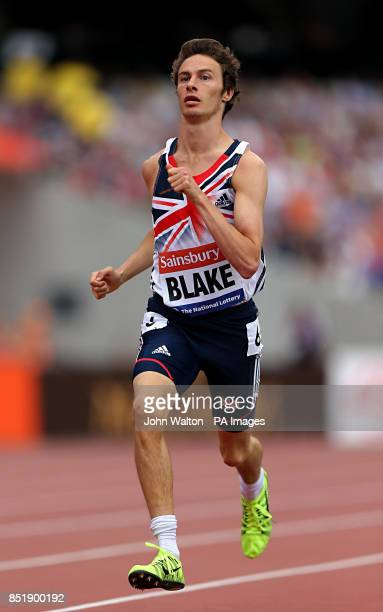 Great Britain's Paul Blake during the Men's T36/37 800 metres during the Sainsburys International Para Challenge at the Olympic Stadium London