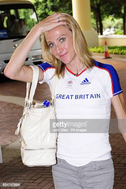 Great Britain's Paula Radcliffe arrives at the team hotel in Macau China