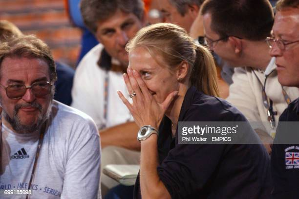 Great Britain's Paula Radcliffe in the stands at the IAAF World Championships