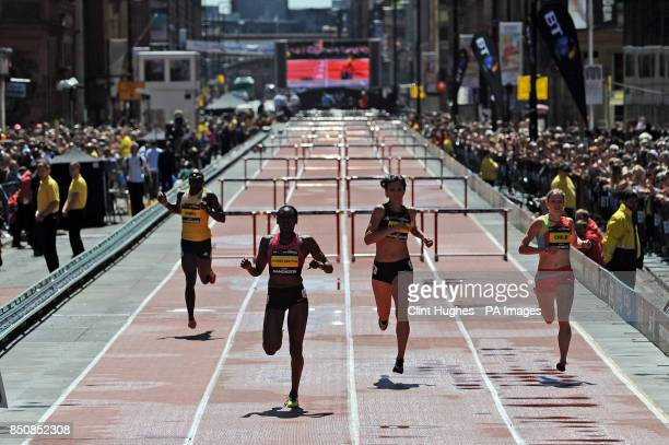 Great Britain's Perri ShakesDrayton wins the women's 200m hurdles during the BT Great City Games in Manchester