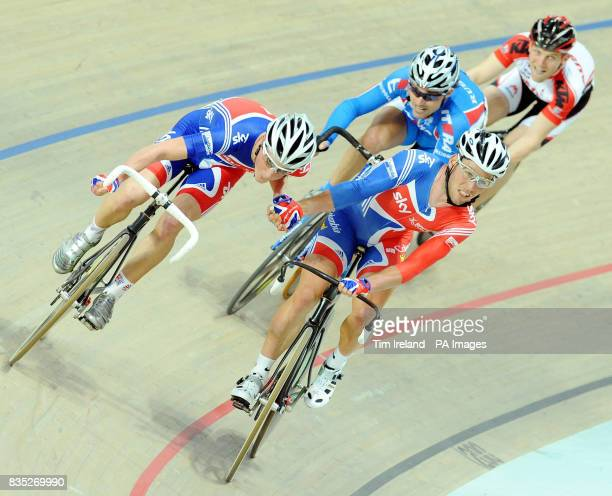 Great Britain's Peter Kennaugh and Mark Cavendish during the Madison during the 2009 UCI World Track Cycling Championships at the BGZ Arena Velodrome...