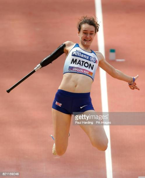Great Britain's Polly Maton competes in the Women's Long Jump T47 Final during day ten of the 2017 World Para Athletics Championships at London...