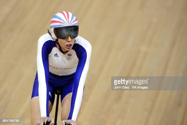 Great Britain's Rebecca Romero competes in the Women's Individual Pursuit Qualifying at the Laoshan Velodrome on day 7 of the 2008 Olympic Games in...