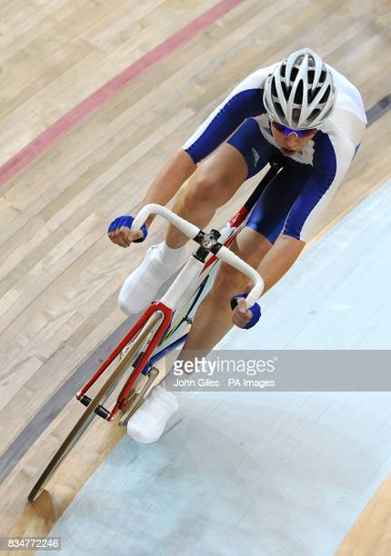 Great Britain's Rebecca Romero during the Women's Points Race at The Laoshan Velodrome during the 2008 Beijing Olympic Games in China