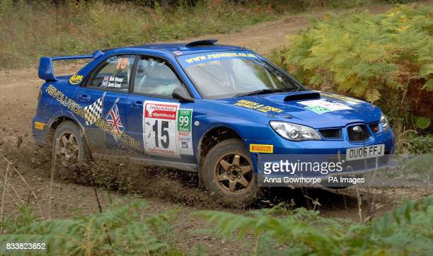 Great Britain's Robert Swann driving a Subaru Impreza during the Trackrod Rally Yorkshire Cropton Forest North Yorkshire Postcode YO18 8ES