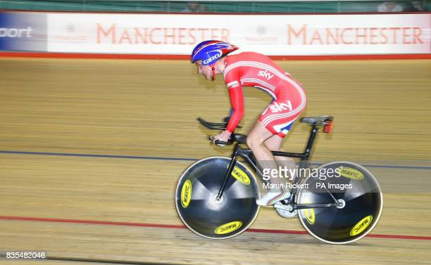 Great Britain's Sarah Storey on her way to winning the LC1 LC2 CP4 500M Time Trial during the BT Paralympic World Cup Manchester