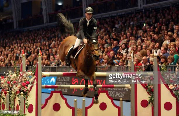 Great Britain's Scott Brash riding Hello Annie competes in the Earls Court Olympia Christmas Cracker during day five of The London International...