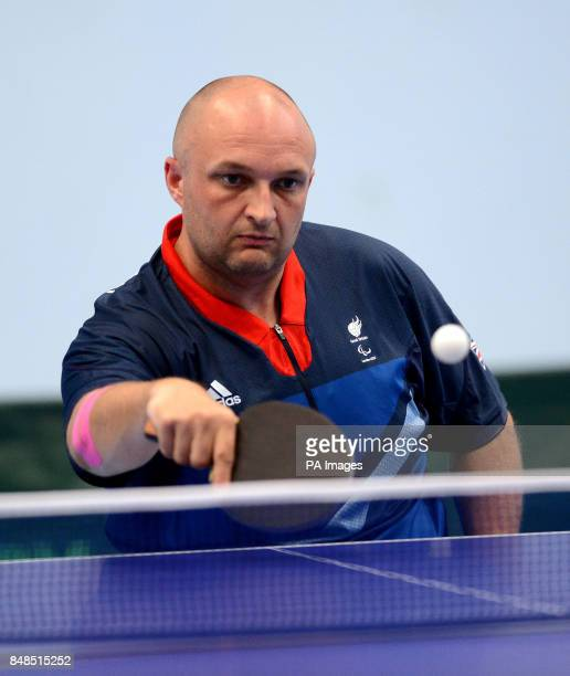 Great Britain's Scott Robertson in action during Table Tennis training at the Bath Sports Training Village Bath
