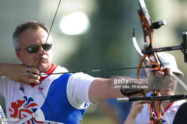 Great Britain's Simon Terry during an Archery practice session in Macau China
