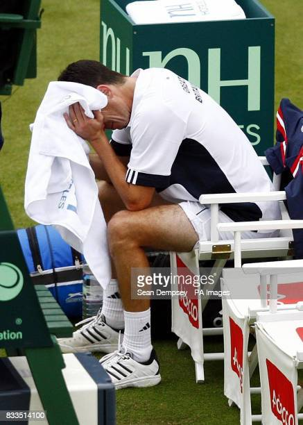 Great Britain's Tim Henman after defeating Croatia's Roko Karanusic during the first day at the All England Club Wimbledon