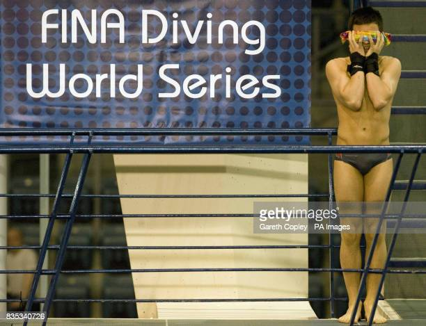 Great Britain's Tom Daley during the Men's Platform semi final B during the FINA Diving World Series at Ponds Forge Sheffield