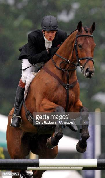 Great Britain's William FoxPitt on board Neuf Des Coeurs during the Show Jumping Event at The 2011 Land Rover Burghley Horse Trials Stamford...