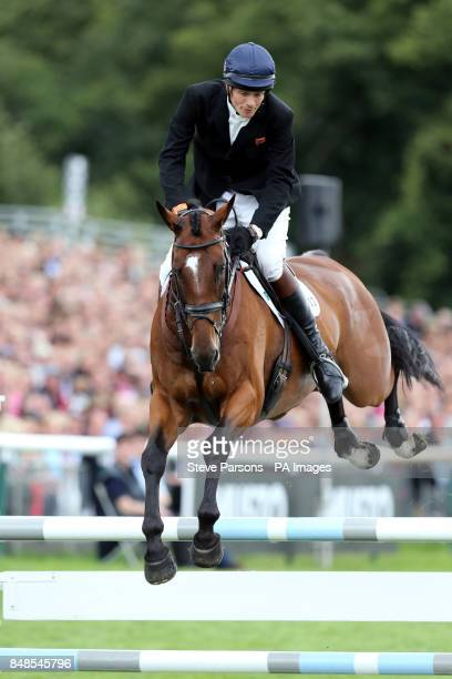 Great Britain's William FoxPitt rides Parklane Hawk on the show jumping day during the Burghley Horse Trials at Burghley Park Stamford