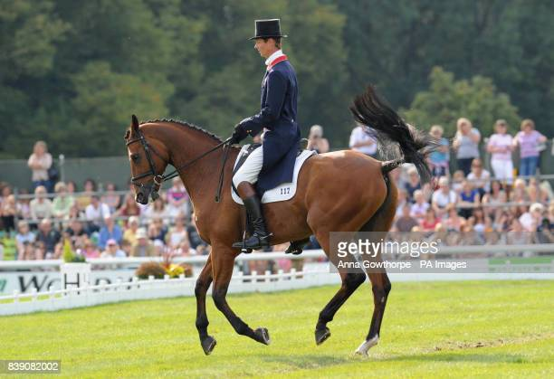 Great Britain's William FoxPitt riding Neuf Des Coeurs takes part in the dressage event at Burghley Horse Trials Stamford