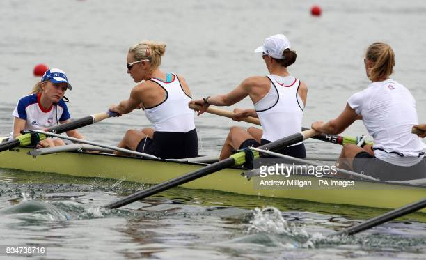 Great Britain's womens eights cox Caroline O'Connor during a training session at Shunyi Olympic Rowing Park Bejing