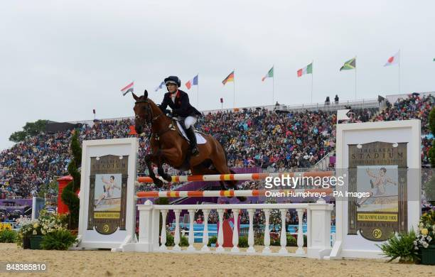 Great Britain's Zara Phillips on High Kingdom during the Individual Eventing Jumping Final on day four of the London Olympic Games at Greenwich Park...